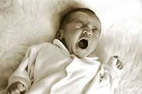 Photo of baby yawning